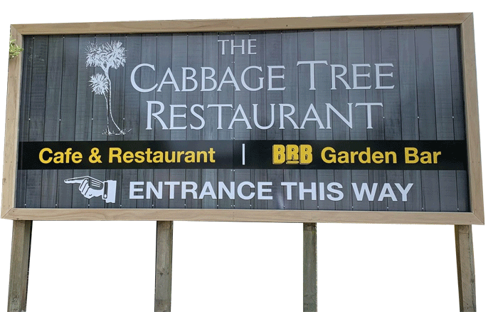 Restaurant and Bar Sign