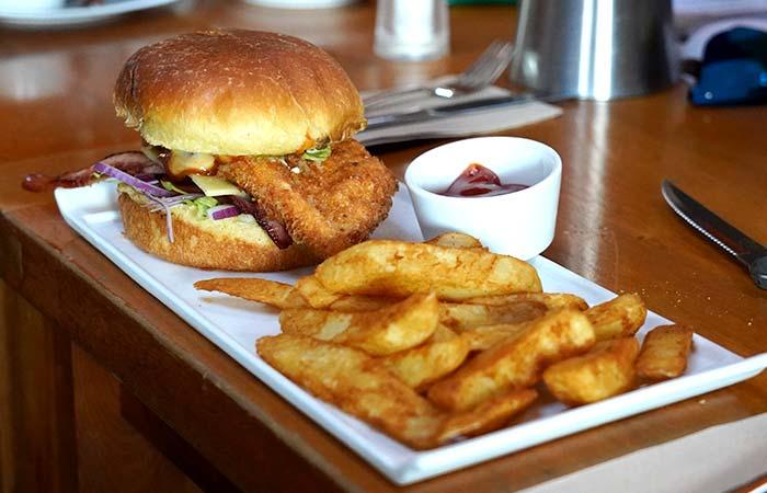 Restaurant Chicken Burger
