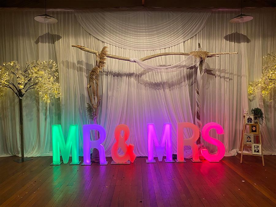 Mr and Mrs Wedding Lights